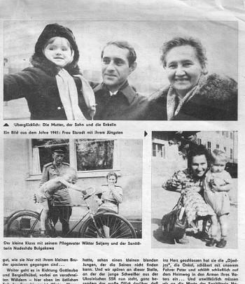 Историю семьи Зеленых описала немецкая газета, 1972 г