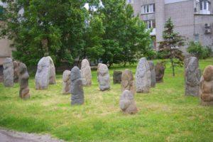 Скифско-сарматские каменные изваяния в Бердянске